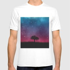 Tree Space Galaxy Cosmos White MEDIUM Mens Fitted Tee