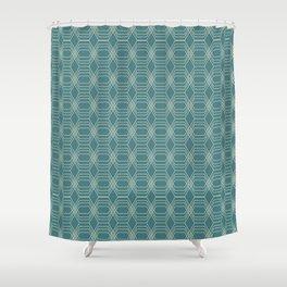 hopscotch-hex navajo Shower Curtain