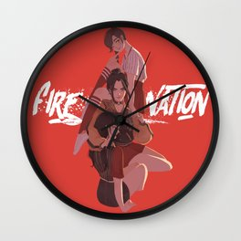Fire Nation Babes Wall Clock