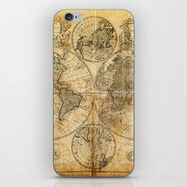 Vintage World map iPhone Skin
