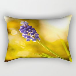 Beautiful Spring Muscari Bokeh background  #decor #society6 #homedecor Rectangular Pillow