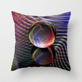Tartan glass ball Throw Pillow