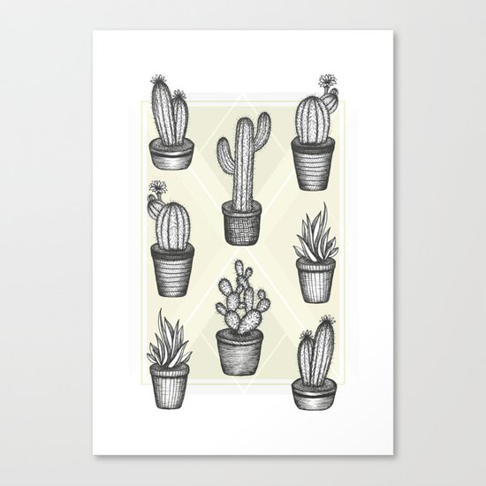 Prickly Friends Canvas Print