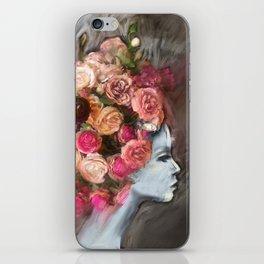 Flower Bloom Girl iPhone Skin
