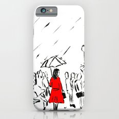 The Girl In The Red Rain Coat (Part 1)  Fine Art Acrylic Painting iPhone 6 Slim Case