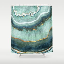 Gold Turquoise Agate Shower Curtain