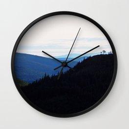 Chic-Choc Mountains Wall Clock