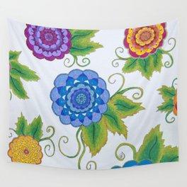 Floral Mandala Collective Illustration by Imaginarium Arts Wall Tapestry