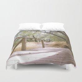 Small Bridge In The Woods Duvet Cover