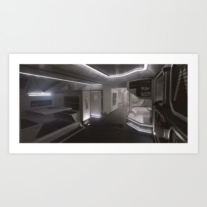 Sci-fi Interior Art Print