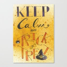 Keep calm and trick or treat Canvas Print