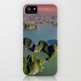 Limestones rock of Ha Long Bay in Vietnam iPhone Case