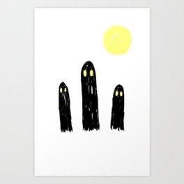 Little ghostie boos Art Print