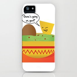 Guac Party iPhone Case