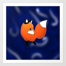 Introducing a fox Art Print