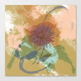 Autumnal Brushstrokes, Abstract Floral Art Canvas Print