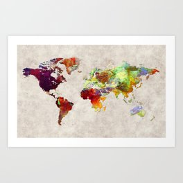 World Map 62 Art Print