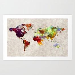 World Map 62 Art Print