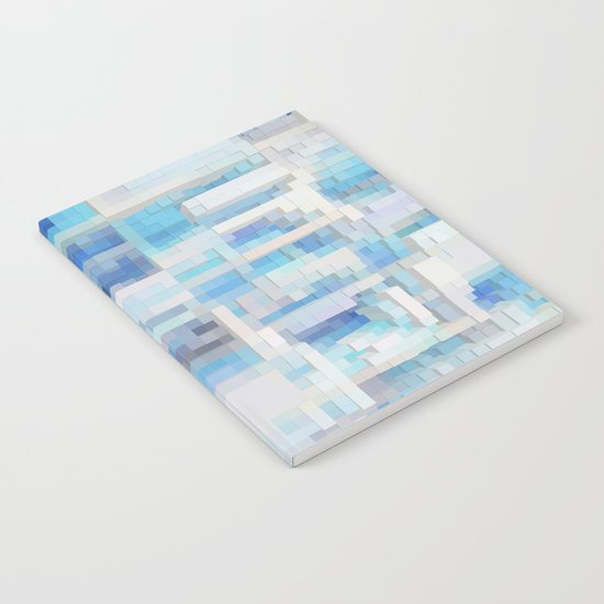 Abstract blue pattern 2 Notebook