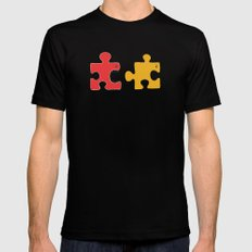 Puzzle Monster Mens Fitted Tee MEDIUM Black