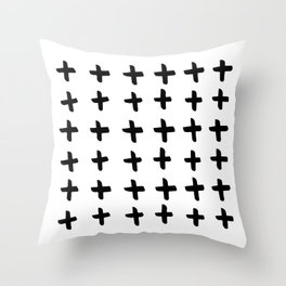 Black and white cross pattern. Modern. Scandinavian. Throw Pillow