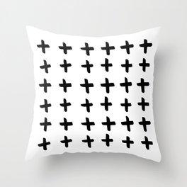 Black and white cross pattern. Modern. Scandinavian. Throw Pillow