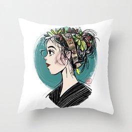 Spring (Light Background) Throw Pillow