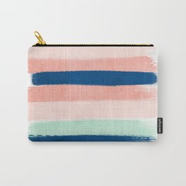 Painted stripes pattern minimal basic nursery decor home trends colorful art Carry-All Pouch