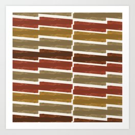 Autumn colors inspired abstract pattern Art Print