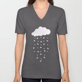 It's raining umbrellas Unisex V-Neck