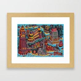 Mumbo Jumbo City (Color) Framed Art Print