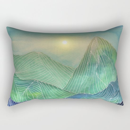 Lines in the mountains V Rectangular Pillow