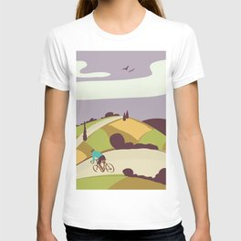Vintage Style Road Cycling Print T-shirt