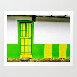 Doors - Green and Yellow Art Print