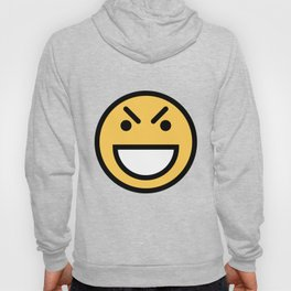 Smiley Face   Big Grinning Eyebrow Raised Face Hoody