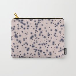 Inky spot print - Navy Carry-All Pouch