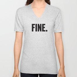 Fine. Unisex V-Neck