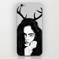 cara iPhone & iPod Skins featuring Cara by Roland Banrevi