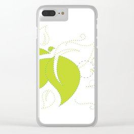Blowing Leaves Clear iPhone Case