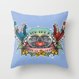 A Piece of Heart Throw Pillow