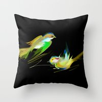 weed Throw Pillows featuring weed by tatiana-teni