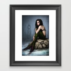 Mermaid and the Lighthouse Framed Art Print