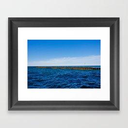Pier on the Lake Framed Art Print