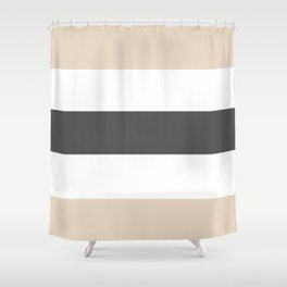 Beige and gray stripes Shower Curtain