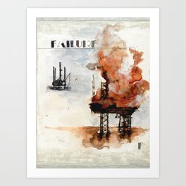 F is for Failure Art Print