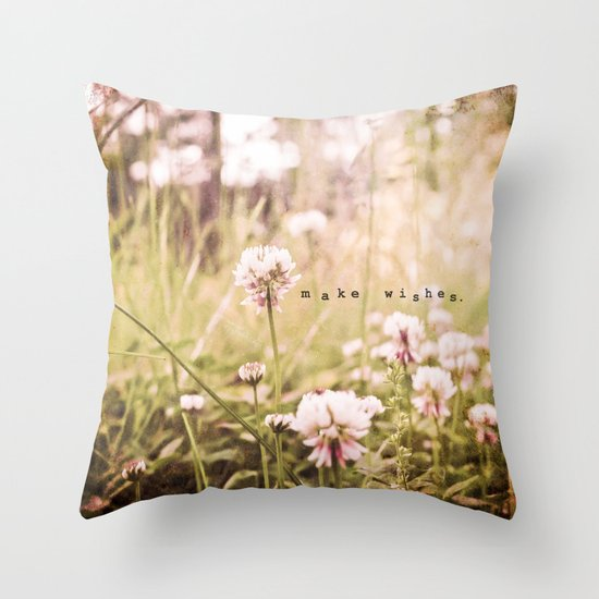 Make Wishes Throw Pillow
