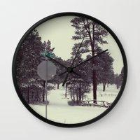 colorado Wall Clocks featuring Colorado. by Cynthia del Rio
