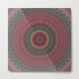 Autumn Star Mandala Metal Print
