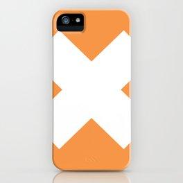 X WHITE iPhone Case