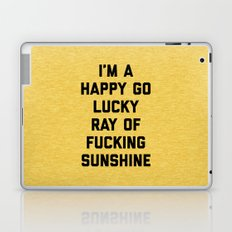 Ray Of Sunshine Funny Quote Laptop & iPad Skin